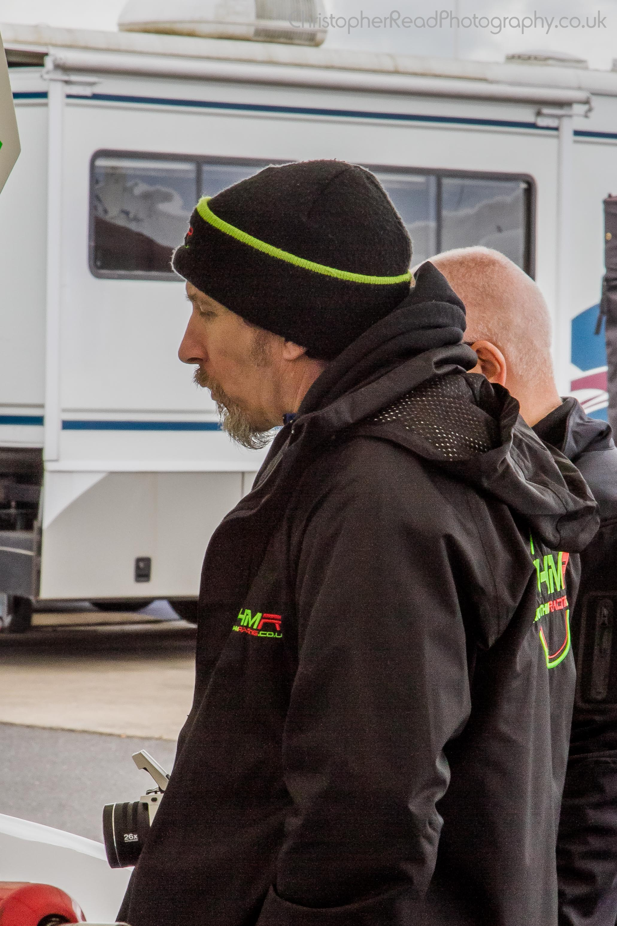 THM Racing - Head of Marketing and PR, Dale Cullen, looking on