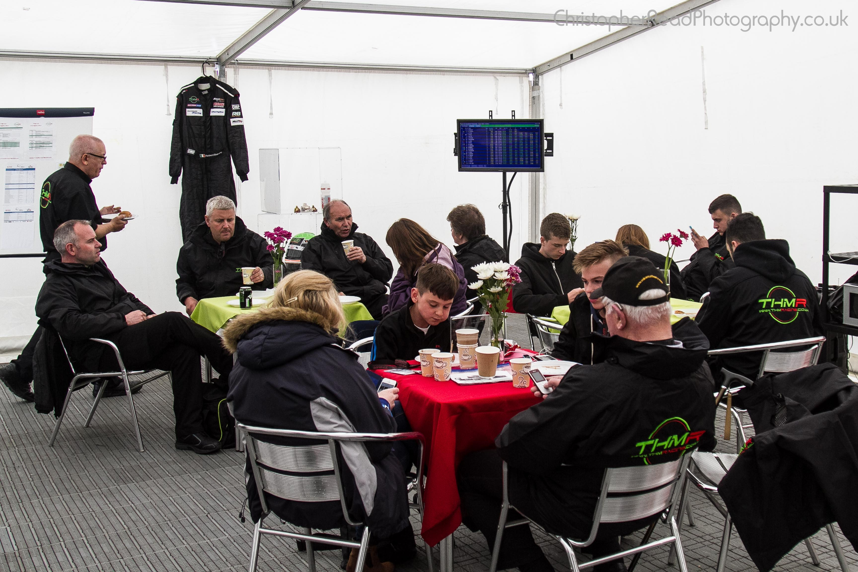 THM Racing - team and VIP guests enjoying some down time!