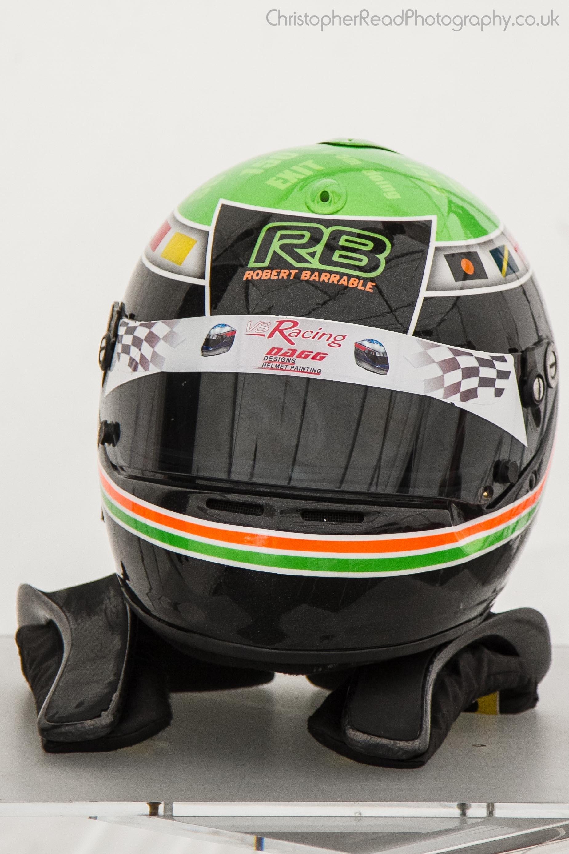 THM Racing - Robert Barrable's crash helmet