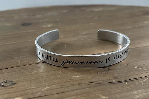 A little G'waaaaan cuff bracelet