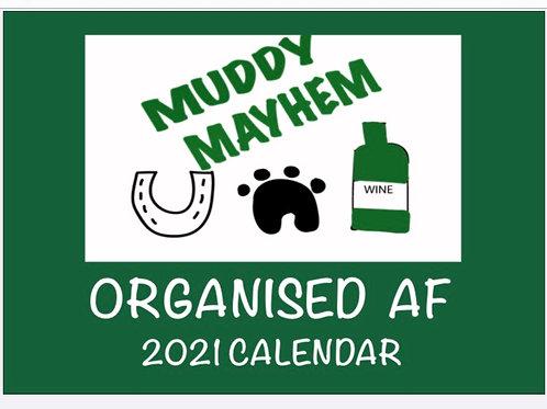 ORGANISED AF 2021 calendar A4 deluxe