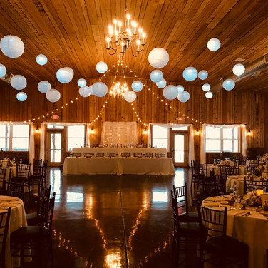 Seating for 200 with decorations by Garland & Lace