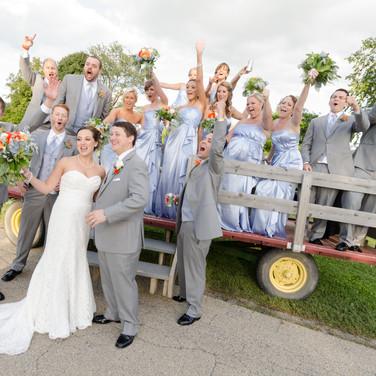 Wedding Hay Ride