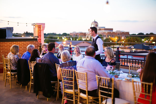 Stacy + Kyle | Intimate Rooftop Wedding Reception