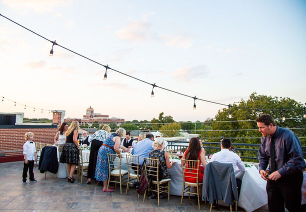 Stacy + Kyle | Intimate RooftopWedding Reception
