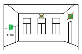 Установка комнатного датчика температуры