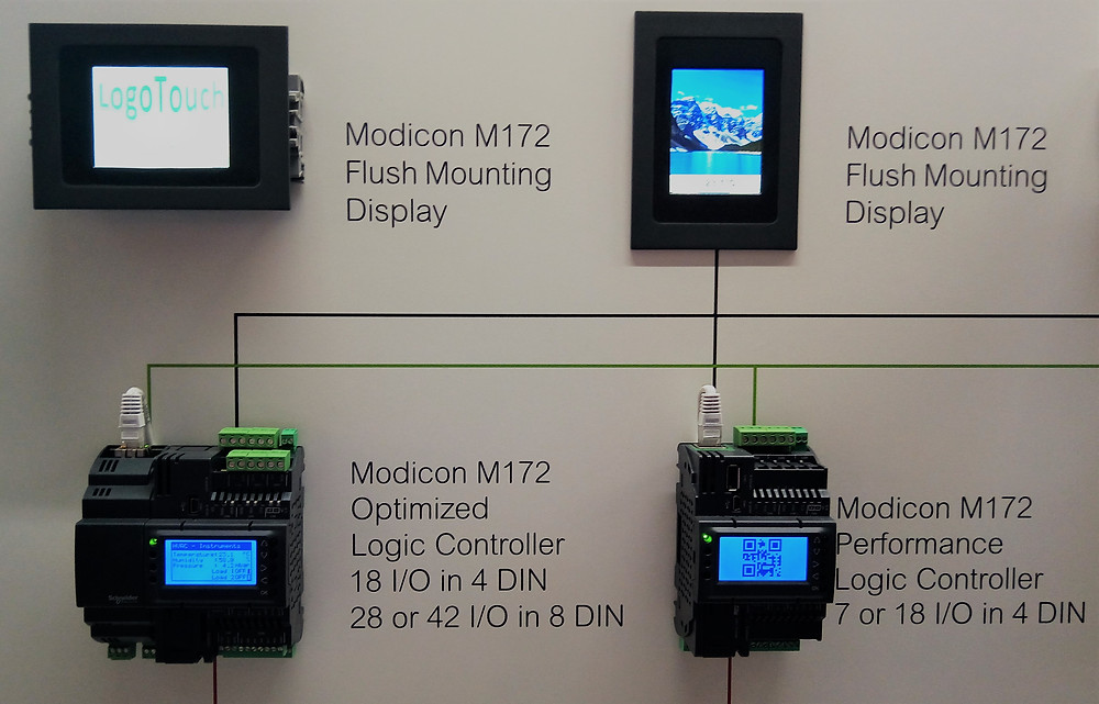 Loge Touch, Logic Controller, Modicon, Flush Display