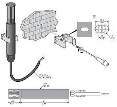 TM1SH284, монтаж датчика влажности, крепление, установка, датчик,