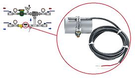 Монтаж накладнго датчика температуры обратной воды