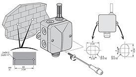 TM1SH304, монтаж датчика влажности, крепление, установка, датчик,