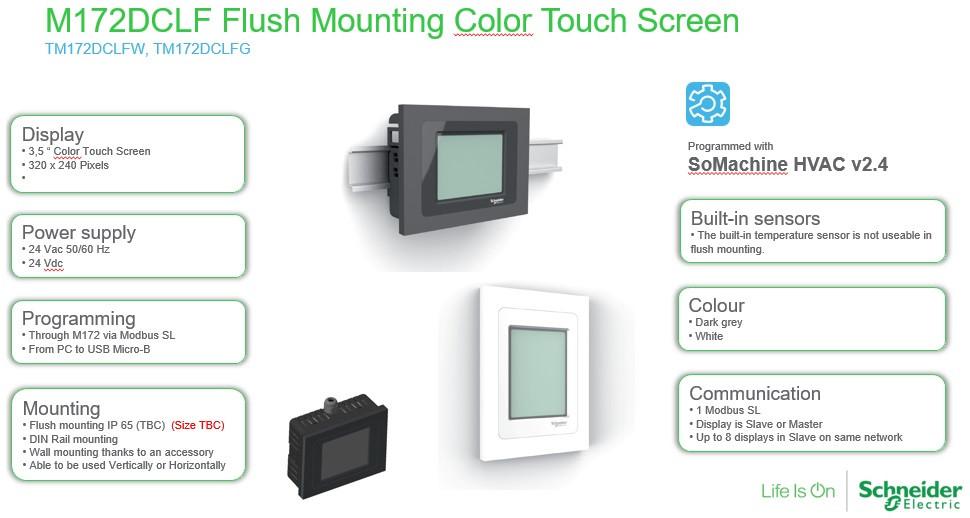 HMI панель M172DCLF Flush Mounting Color Touch Screen