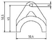 Держатель для термостата DBZ 05 размеры