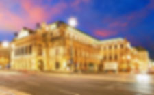 Vienna State Opera House at night, Austr