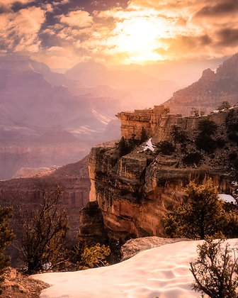 Grandy Snowy Sunrise