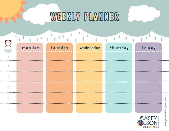 Girl Weekly Planner