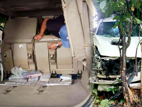 P2m Marijuana discovered inside SUV following a road accident in Tabuk