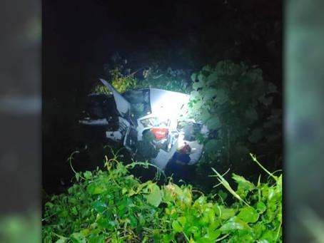 2 men seriously injured after pickup plunged into 15-meter ravine in Tabuk