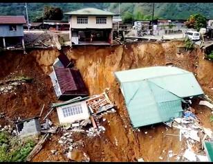 Barangay health station in Benguet plunged into 30m ravine due to landslide