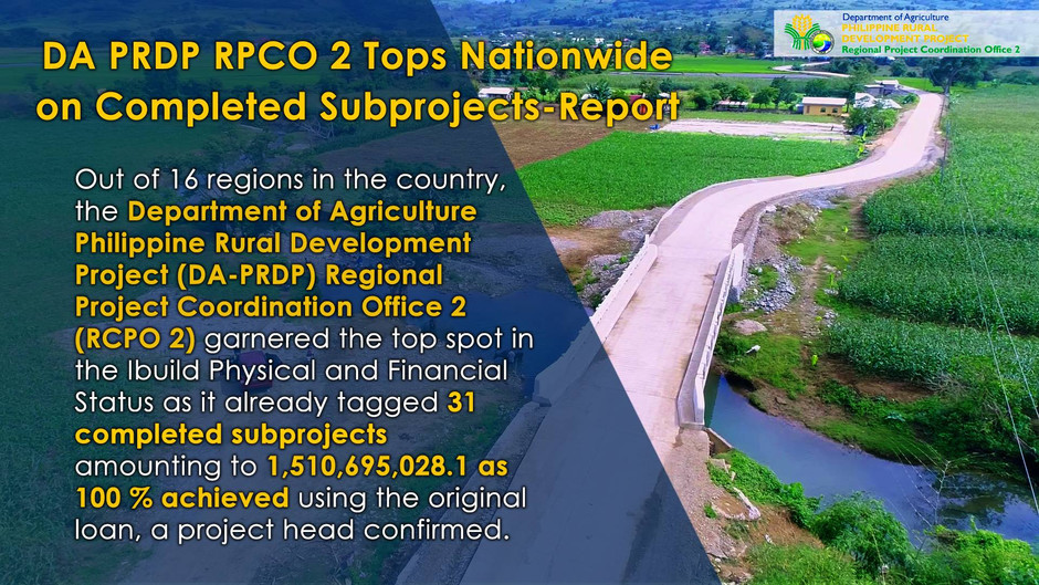 Cagayan Valley tops completion of subproject reports nationwide