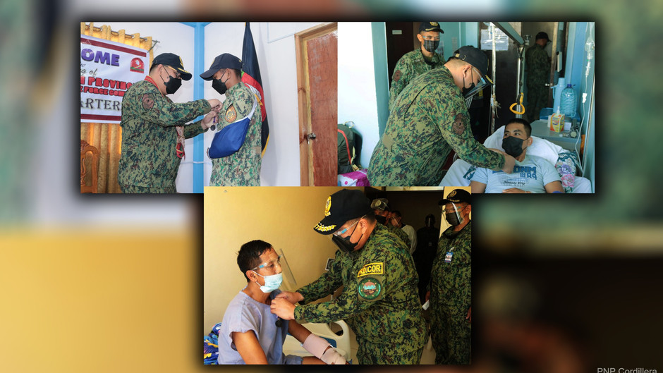 3 Mt. Province cops wounded in line of duty given medals