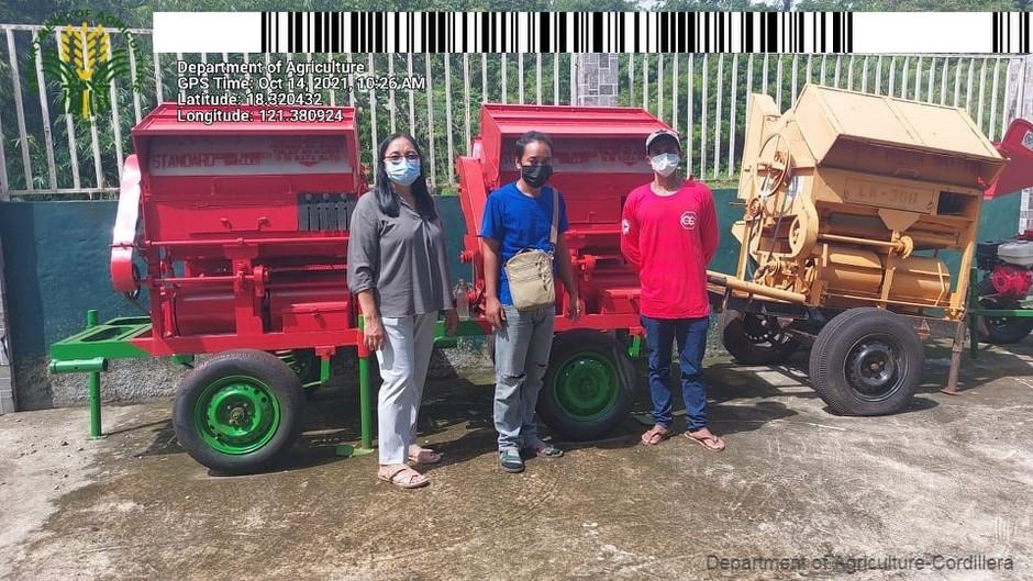 P1.2M corn husk shellers granted to 7 Cordillera farmers org