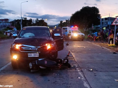 2 injured in a car-motorcycle collision in Tabuk
