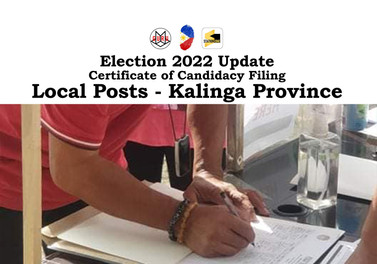 List of aspirants for local posts in 2022 Elections - Kalinga Province