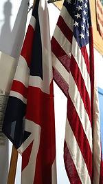 usa australian flags brittish union jack maritime