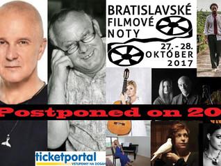 Bratislavské Filmové Noty - Postponed 2018 on the 3rd and 4th March