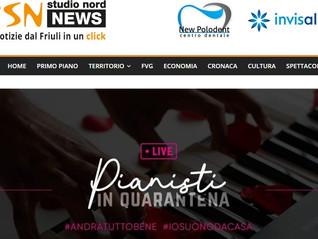 "Parlano di ""Pianisti in Quarantena"" su ""Studio Nord News"""