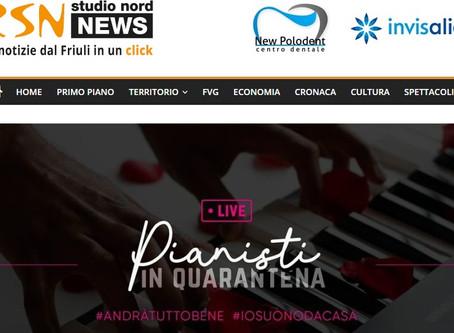 """Parlano di """"Pianisti in Quarantena"""" su """"Studio Nord News"""""""