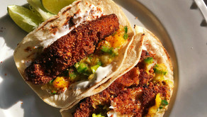 Crispy Fish Tacos with Spicy Mango Salsa