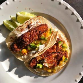 Crispy Fish Tacos with Spicy Mango Salsa