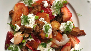 Strawberry & Burrata Panzanella Salad