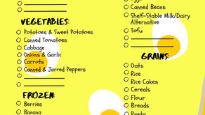 Quarantine Grocery List & Tip Sheet!