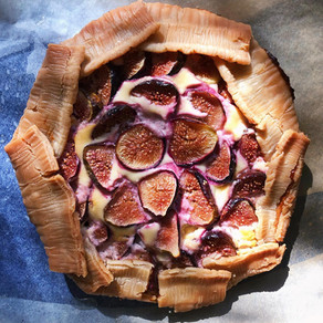 Cheater's Fig & Goat Cheese Galette