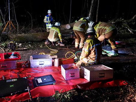 Einsatzübung Forstunfall mit Pfählungsverletzung