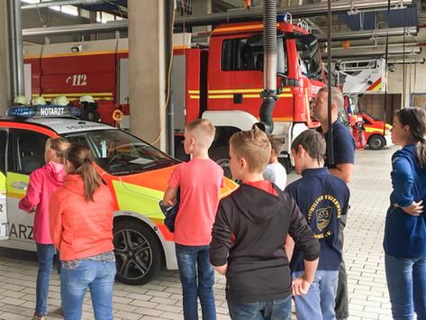 Die Freiwillige Feuerwehr Bad Aibling beteiligte sich am Ferienprogramm