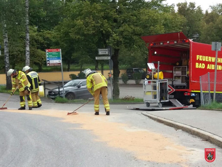 Dieselspur im Kreisverkehr
