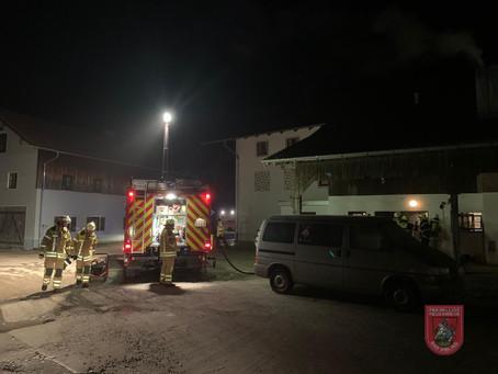 Brand einer Heizungsanlage in Mietraching