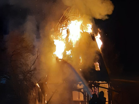 Unterstützung für die Feuerwehr Kolbermoor bei Windmühlenbrand