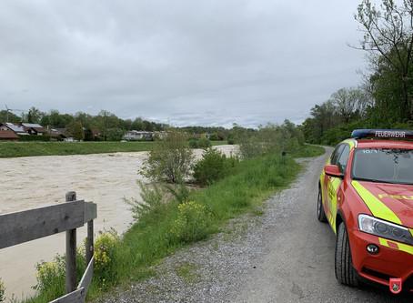 Hochwasserlage in Bad Aibling
