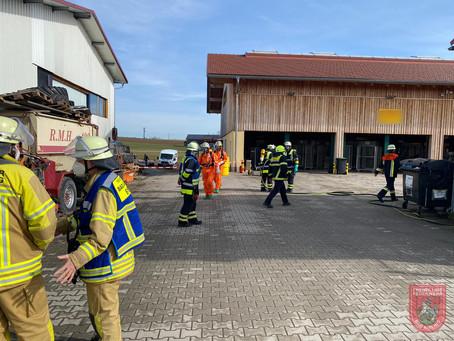 Gefahrguteinsatz bei Paketlager in Schönau