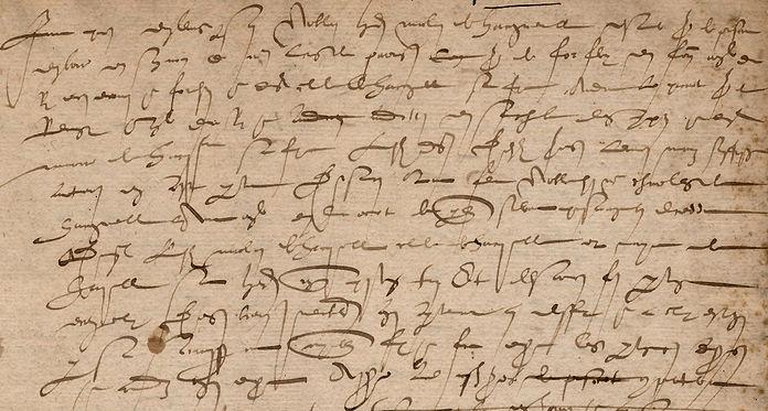 Ecriture cursive du début du XVIIe siècle