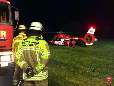 Landeplatz ausleuchten für Rettungshubschrauber