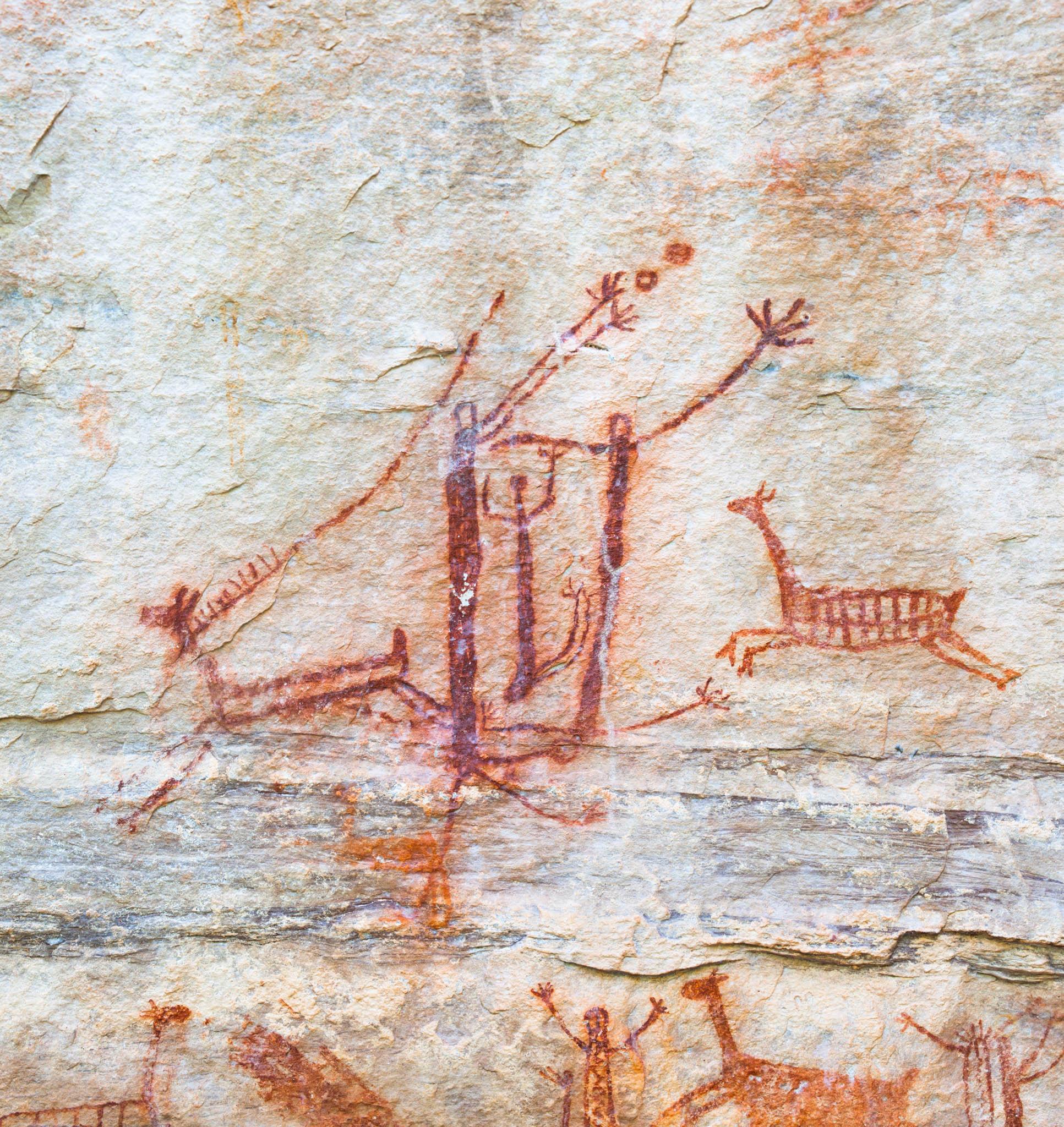 Pinturas Rupestres, Toca Pinga do Boi, Parque Nacional da Serra da Capivara, Piaui_7687