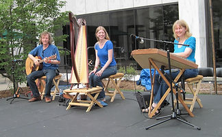 Painted Trillium Celtic Music harp Kristin Rebecca Rob Susan Hammer Dulcimer bouzouki French Embassy
