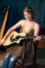 Kristin Rebecca folk harpist, guitarist and vocalist