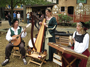 Painted Trillium Celtic Music harp Kristin Rebecca Rob Susan Hammer Dulcimer bouzouki Maryland Renaissance Festival