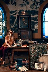 Kristin Rebecca blue shirt promo photo